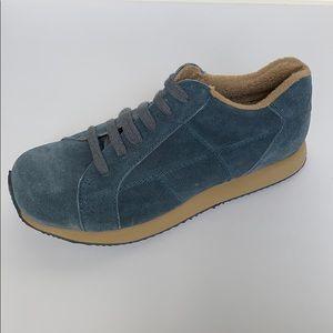 DKNY JEANS Blue Suede Platform Sneakers